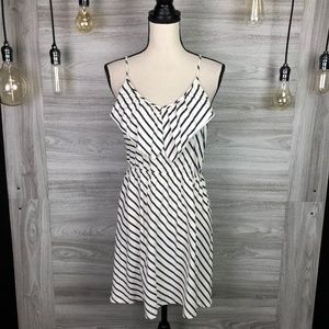 Roxy White Stripe Mini Dress Size X-Large